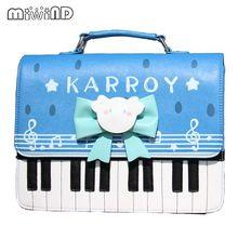 Miwind-F Симпатичные Лолита сладкий бабочка Письмо печати фортепиано сумка, Модные новые женские качество симпатичный рюкзак известный Mochila