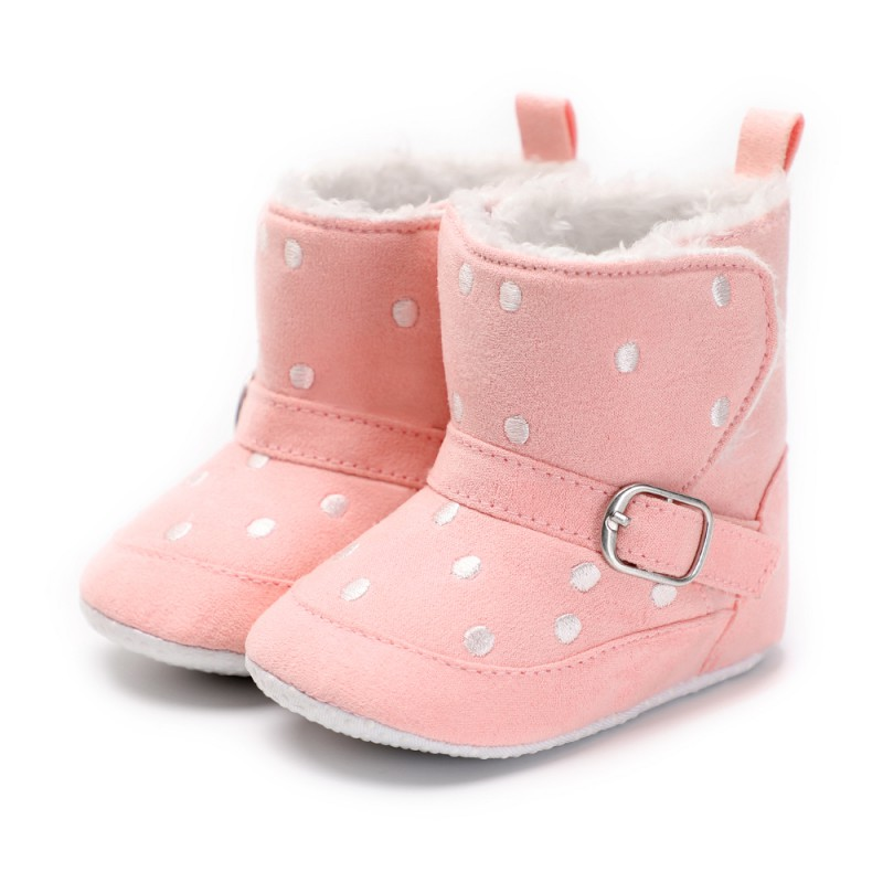 Winter Baby Girls Cotton Buckle First Walkers Baby Boys Warm Hook And Look Boots Soft Bottom Snow Boots New