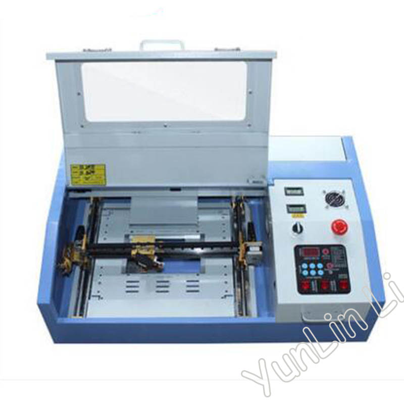 110V/220V 40W 200*300mm Mini CO2 Laser Engraver Engraving Cutting Machine 3020 Laser with USB Sport zonesun 110 220v 50w 400 600mm mini co2 laser engraver engraving cutting machine 4060 laser with usb support