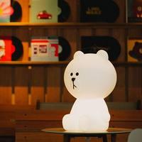 Chiclits LED Night Light Rabbit Head Brown Bear EU/US Plug Animal Cartoon Decorative Lamp For Children Bedroom Kids Gifts