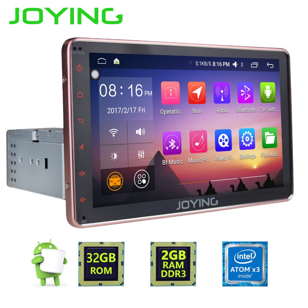 joying universal 1din 8inch android 6 0 car multimedia. Black Bedroom Furniture Sets. Home Design Ideas