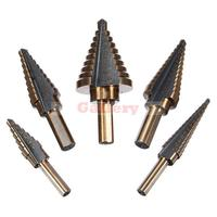 New Arrival Tool 5pcs Triangle Shank Imperial Pagoda Step Drill Set Bit Drill Bit