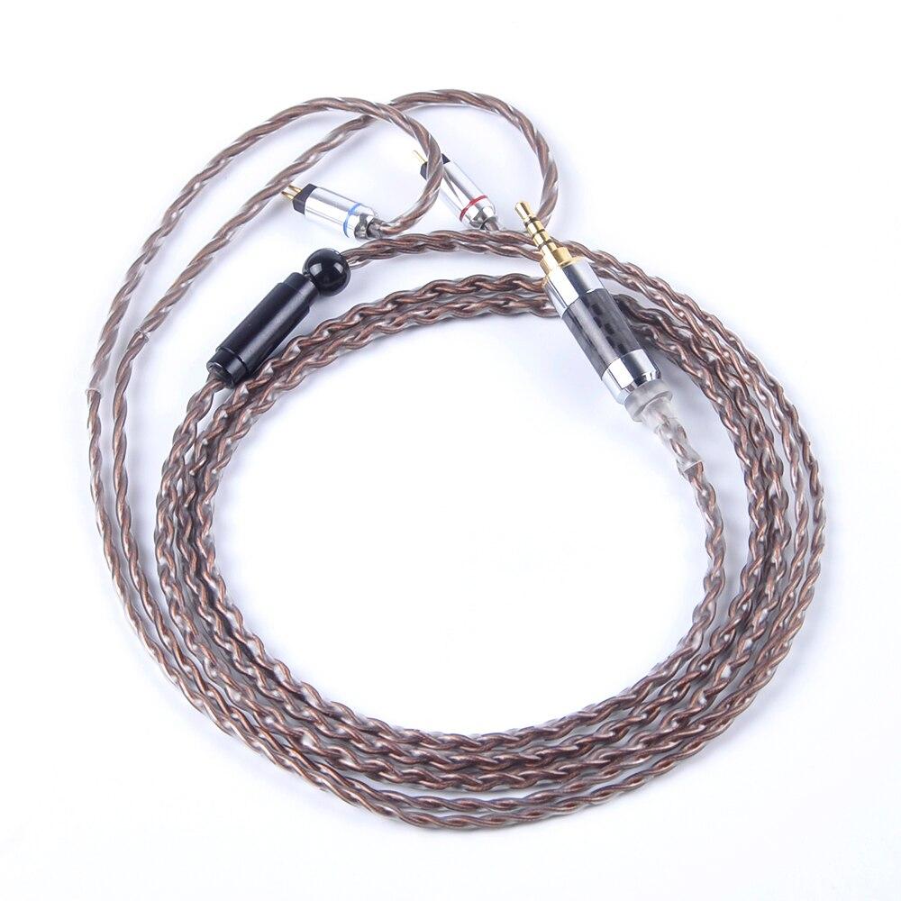Wooeasy 4 Core 7N cuivre argent plaqué câble 2.5/3.5/4.4mm câble équilibré avec MMCX/2pin pour LZ A5 A4 ZS10-in Écouteurs et casques from Electronique    2
