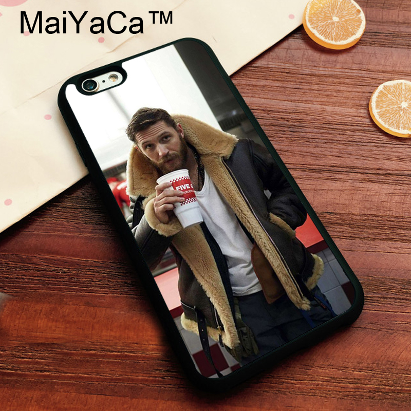 MaiYaCa Tom Hardy Handsome Actor British Cover Case For IPhone 8 Cases Cover For iPhone 8 Bags Soft TPU Phone Case Fundas Bags