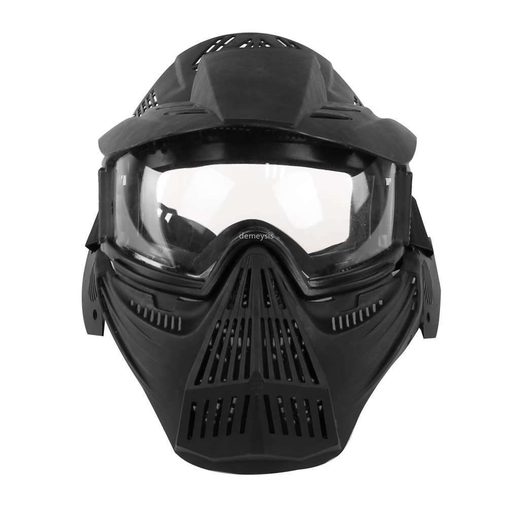 Army Military Airsoft Mask Paintball Mask With Lens Breathable CS Hunting Protection Masks Paintball Accessories