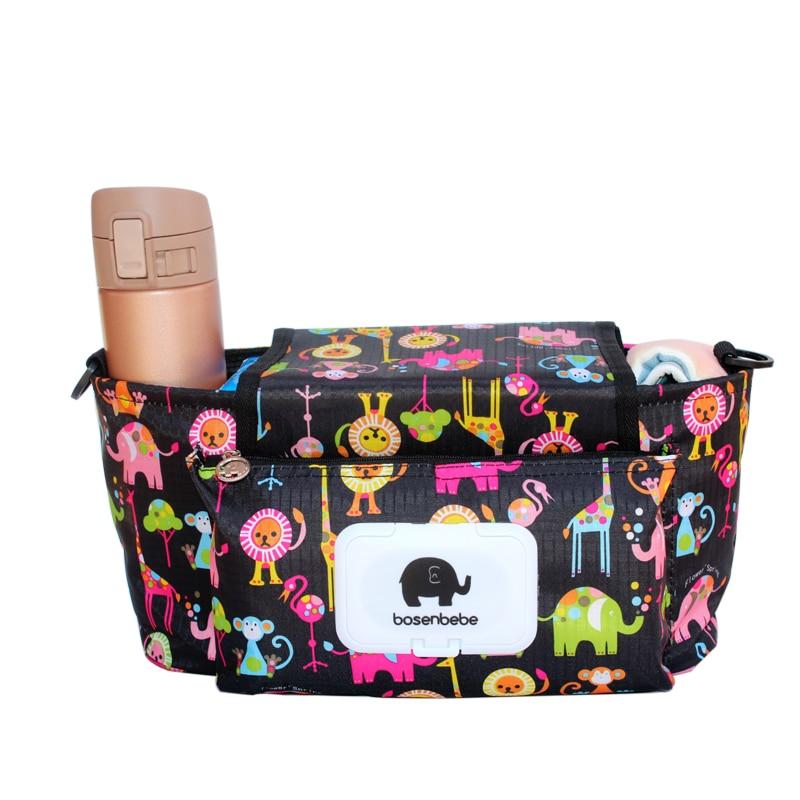 Baby Stroller Organizer  Mummy Diaper Nappy Bag Mom Travel Hanging Carriage Pram Buggy Cart Bottle Stroller Accessories