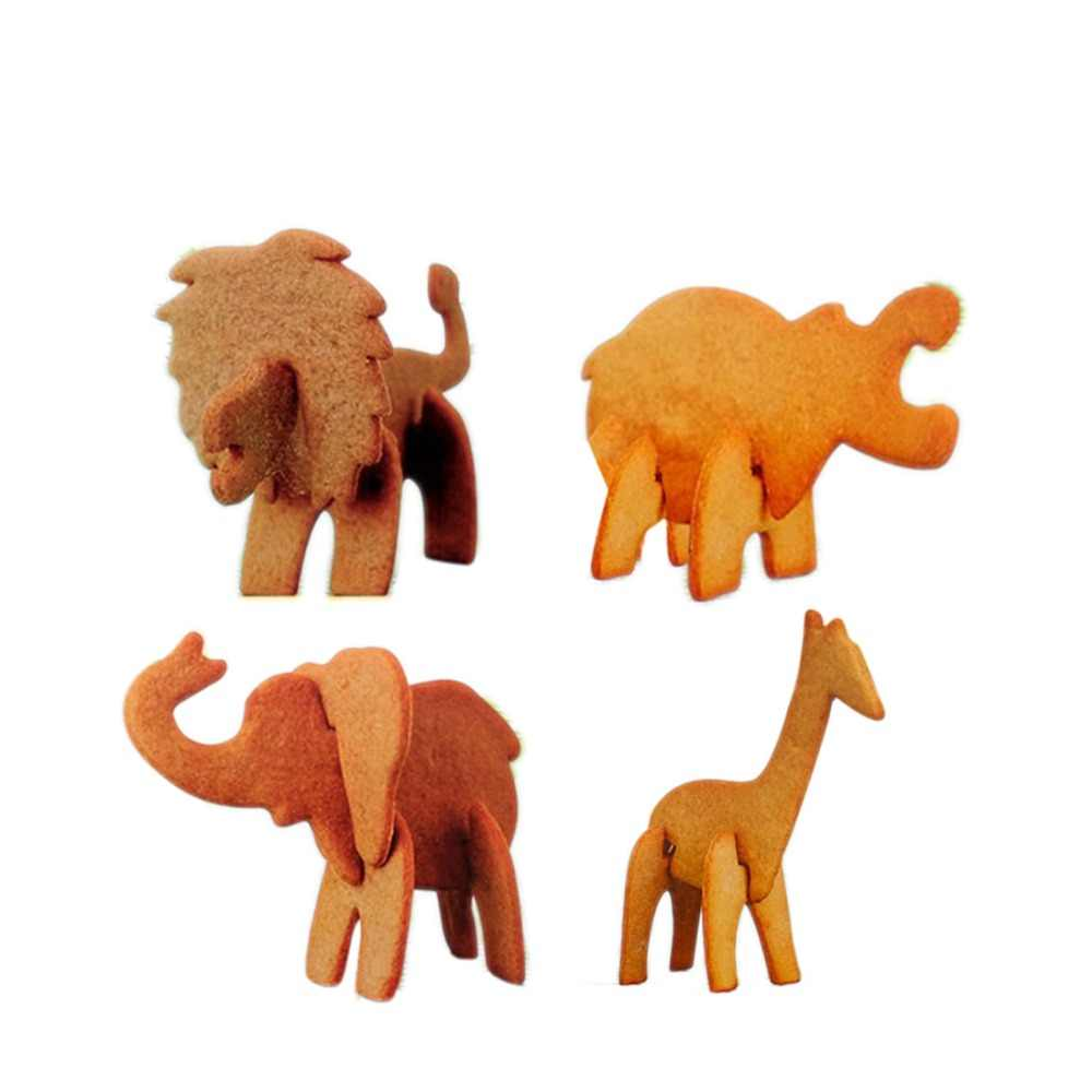 New Arrival 10 Pieces Jungle Animals Lion Elephant Giraffe Hippo Kitchen Accessories Biscuit  3D Cookie Cutter Set