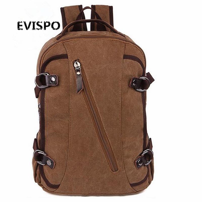 2016 NEW Vintage Men Canvas Backpack Fashion School Bag Casual Travel Rucksack Shoulder Bags Laptop bolsas mochila EVSIPO