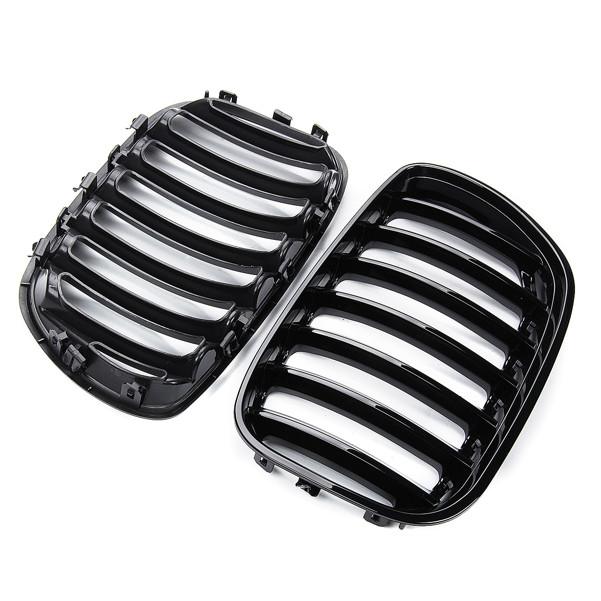 Image 3 - 2Pcs Gloss Black Car Front Kidney Grill Grilles Right & Left for BMW X5 E53 2004 2005 2006 ABS 51137124815 51137124816-in Racing Grills from Automobiles & Motorcycles
