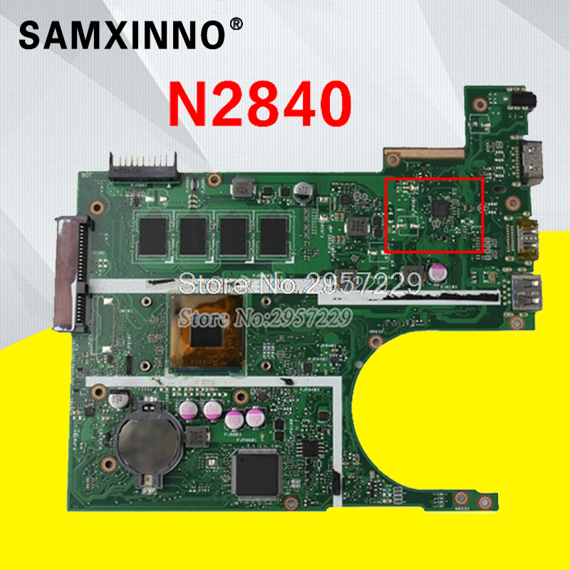 X200MA Motherboard N2840 4G-REV2.1 For ASUS X200M X200MA laptop Motherboard X200MA Mainboard X200MA Motherboard test 100% OK for asus motherboard f200ma f200m x200m x200ma rev2 1 mainboard with n3540u 4g memory test 100