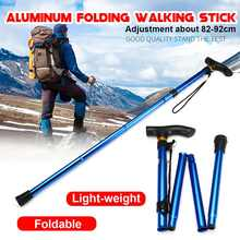 Folding-Cane Pole Walking-Stick Adjustable Elders Aluminum Anti-Shock for The 5-Section