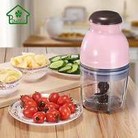 Kitchen Electric Food Chopper Portable Round Mini Baby Food Supplement Machine For Meat Fruit Vegetable Shred Chopper Easy Clean