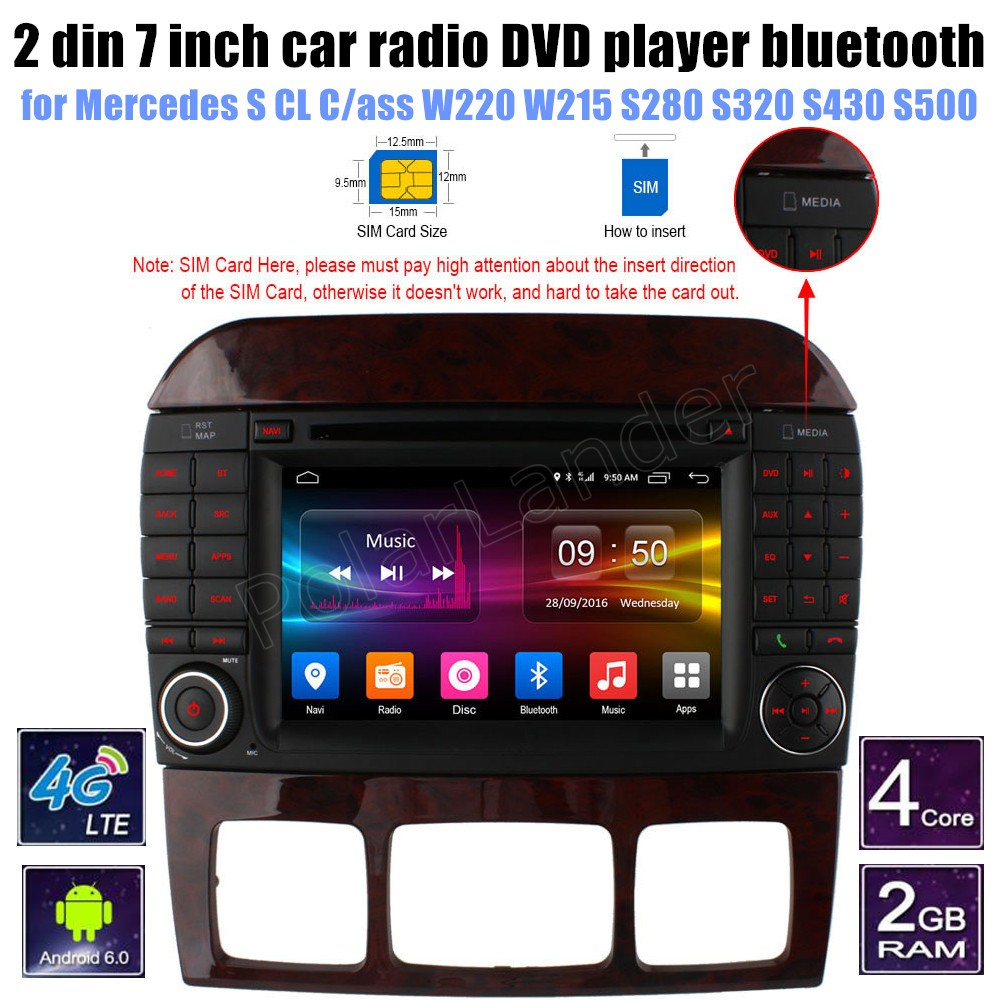 for Mercedes BENZ S CL Cass W220 W215 S280 S320 S430 S500 Car DVD Player GPS Radio WIFI support rear camera