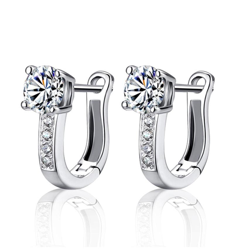Sterling sølv Luksusstjerne øreringer glitrende zirkon populære smykker kvinnelige high-end store mote øreringer temperament prinsesse