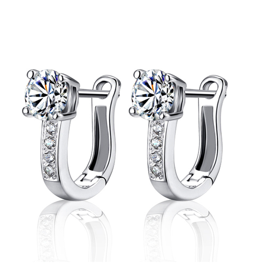 Sterling srebrne luksuzne naušnice sa sjajnim cirkonima popularni nakit ženske high-end velike naušnice temperament princeze