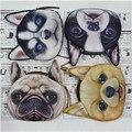 Новый Милая собака Cat Face Молнии для Монет Кошелек женский бумажник/ребенок кошелек Макияж Багги Сумка дети кошелек девушка