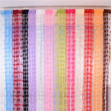 hot deal buy new wedding 12 color tulle curtain screens sheer curtains for living romm fashion tulle curtains balcony window voile curtain