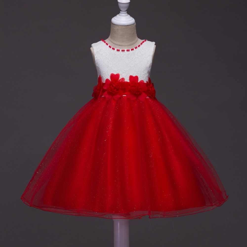 Платья с цветочным узором для девочек на свадьбу, для первого причастия, пышное пляжное платье-пачка с цветочным узором для девочек, детские вечерние рождественские платья для детей