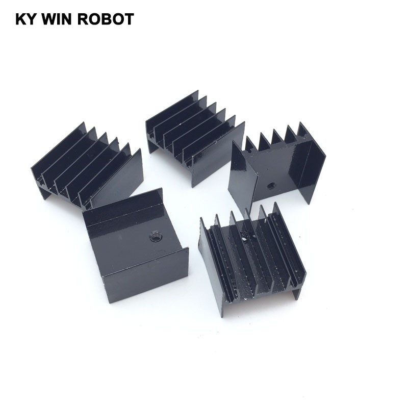 5 pcs Free Shipping Aluminium TO-220 Heatsink TO 220 Heat Sink Transistor Radiator TO220 Cooler Cooling 25*23*16MM