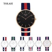 Luxury brand fashion watches women Japan Movement quartz woen Military wirst Full Steel Men Sports Watch TOLASI watch waterproof