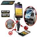 Ohmygo cargador de teléfono para coche titular de montaje para el coche-styling horquilla del soporte del soporte cargador usb para xiaomi samsung galaxy motorala lenovo etc
