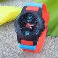 САНДА Новые Мальчики Девочки Спортивные Часы Открытый Водонепроницаемый Quartzwatch Светодиодный Цифровой Наручные Часы Подарок Для Мужчины Женщины Студент Дети