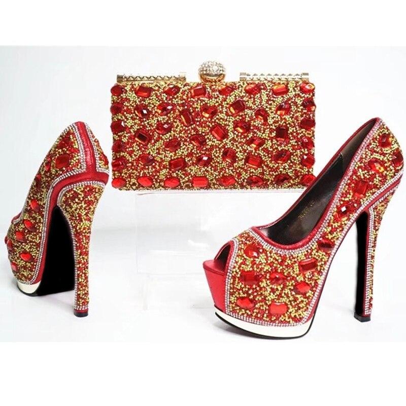 025d90650 Bolsa De Emparejan Zapatos Señoras oro Calidad Que Boda Y Las Italianos  Rojo Los amarillo Africanas Alta Color ...