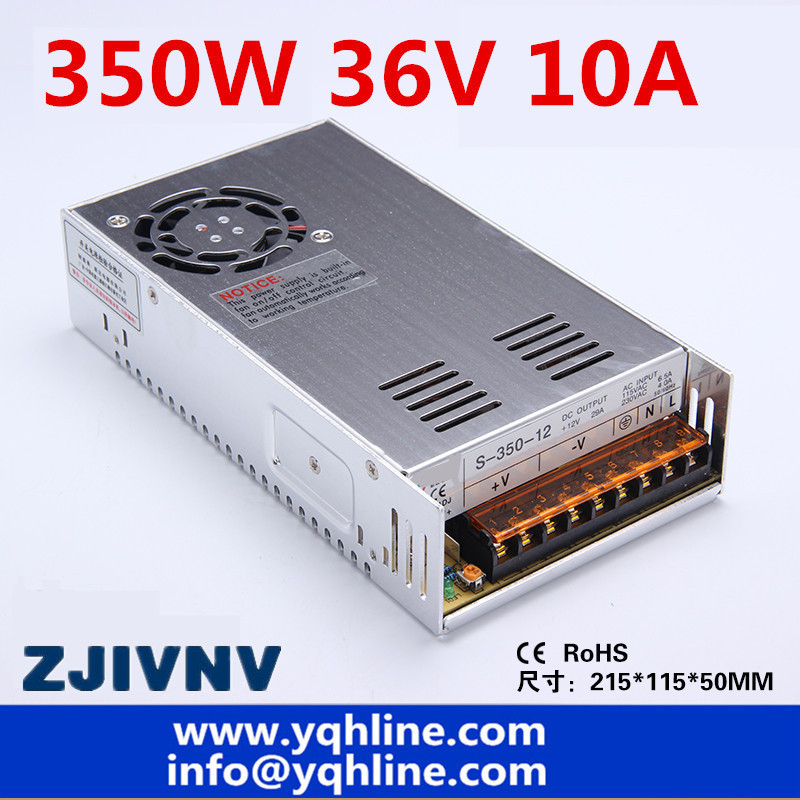 (S-350-36) high quality power supply 36v 10A 350W 10A Switching power supply for LED Strip light ,CNC 3D Print , Led billboard