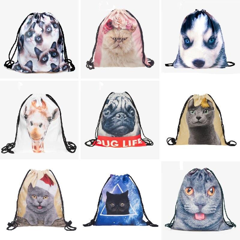 makorster gato tecido de algodão Estilo : Backpacks For Teenage Girls