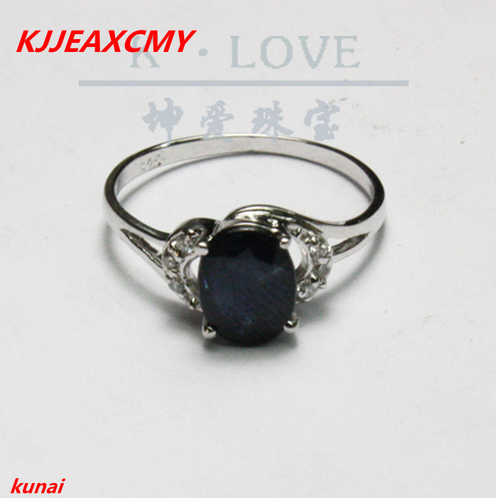 KJJEAXCMY fine jewelry 925 silver inlaid natural sapphire ladys ring with two colors.asd ...