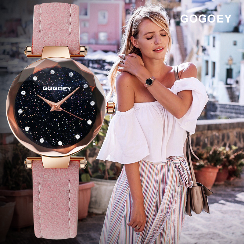 Gogoey Women Quartz Wristwatch 2018 New Fashion Casual Dress Watch Leather Strap Watches Clock horloges vrouwen relogio Ladies 2018 new fashion bracelet watch quartz women lady dress wristwatch horloges vrouwen gift box free ship