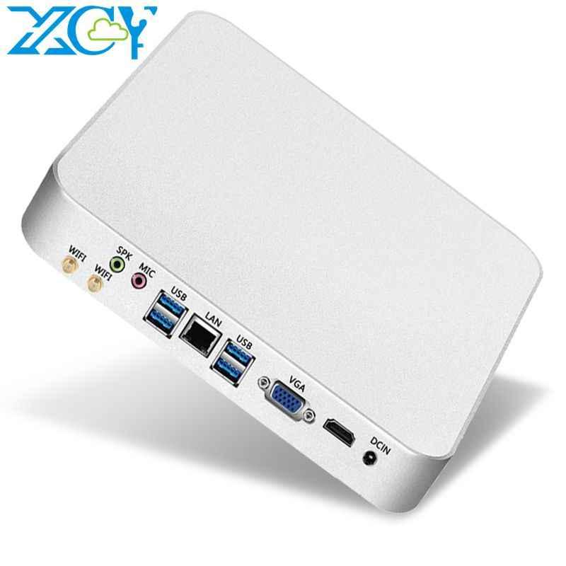 XCY Мини ПК компьютер Intel Core i7 7500U i5 7200U процессор windows/10 linux игровой ПК 4 к UHD HTPC HDMI VGA WiFi Настольный X26UL