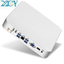 XCY Mini PC computer Intel Core i7 7500U Processor DDR4 RAM  windows/10 linux Gaming PC 4K UHD HTPC HDMI VGA WiFi desktop X26UL