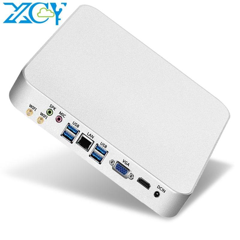 XCY Mini PC Компьютер Intel Core i7 7500U i5 7200U Процессор Windows / 10 Linux Игровой ПК 4K UHD HTPC HDMI VGA WiFi Рабочий стол X26UL Win10 Linux Лучший миникомпьютерный компьютер Ком...