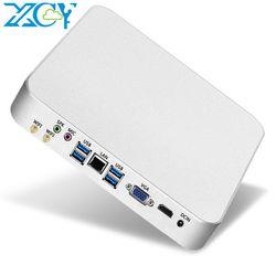 Xcy Mini Computer Pc Intel Core I7 Processore 7500U I5 7200U Windows/10 Linux Pc Gaming 4K Uhd htpc Hdmi Vga Desktop di Wifi X26UL