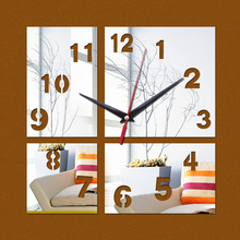 promotion  new arrival acrylic quartz watch wall gift home decoration novelty clock safe modern design decor freeshipping