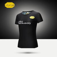 Vibram Sports T shirt Sweat absorbent Quick drying Breathable Fitness Running Couple Casual Sports Short sleeved Gym for Men