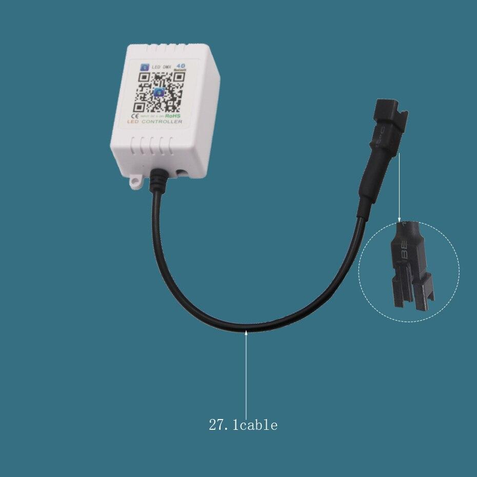 5V-24V RF Symphony LED DMX Controller WS2812 WS2812b For LED Strip Light 5050 Music Controller Bluetooth 433Mhz DC 12V 24V       (3)