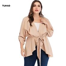 TUHAO Woman Trench 2019 Spring Autumn Plus Size 4XL 3XL Fashion Casual Women's K