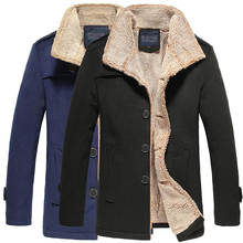 Herren Lange Wintermäntel Haube Herren Winter Kleidung Pea Coat männer Berühmte Marke Winter Wolle Trenchcoat Daunenjacke Militär mantel