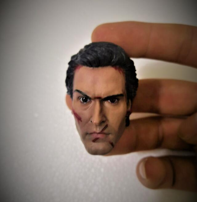 Delicate Painting 1/6 Scale The Evil Dead 2 Ash Williams Henrietta Wounded Head Sculpt For Action Figure Accessorice Toys image