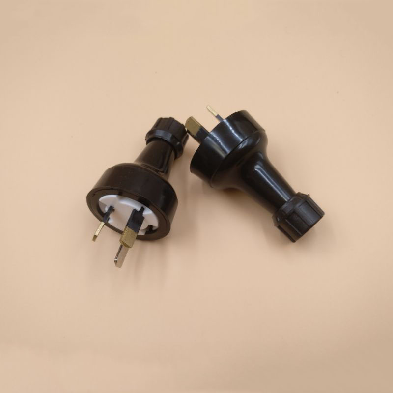 2 X Australian  New Zealand 3 Pin Diy Rewireable Power
