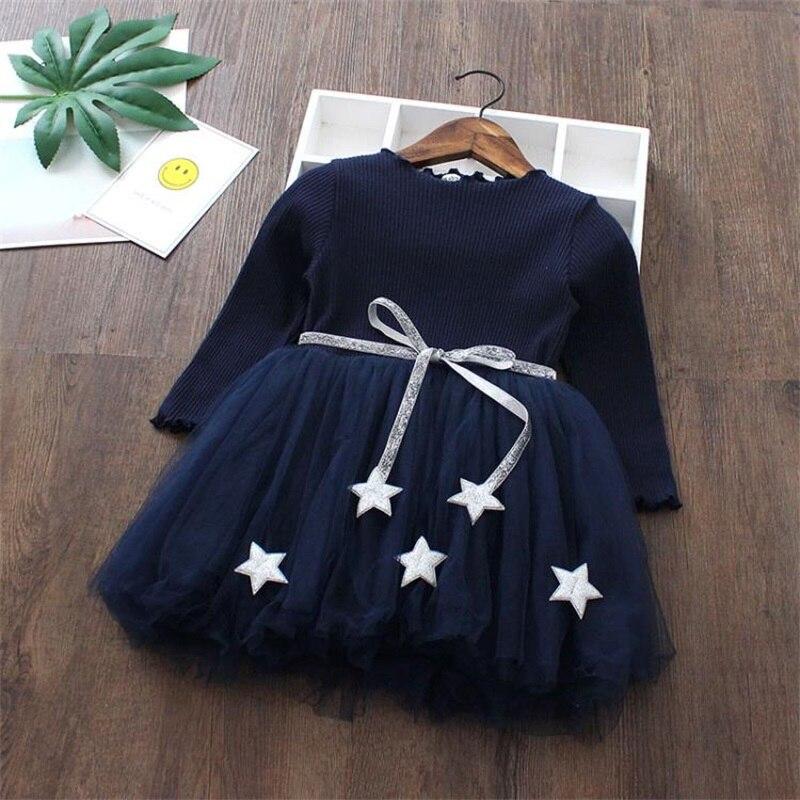 Autumn Winter Kids Dress For Girl Long Sleeves Dress Girl Dresses Tutu Princess Children
