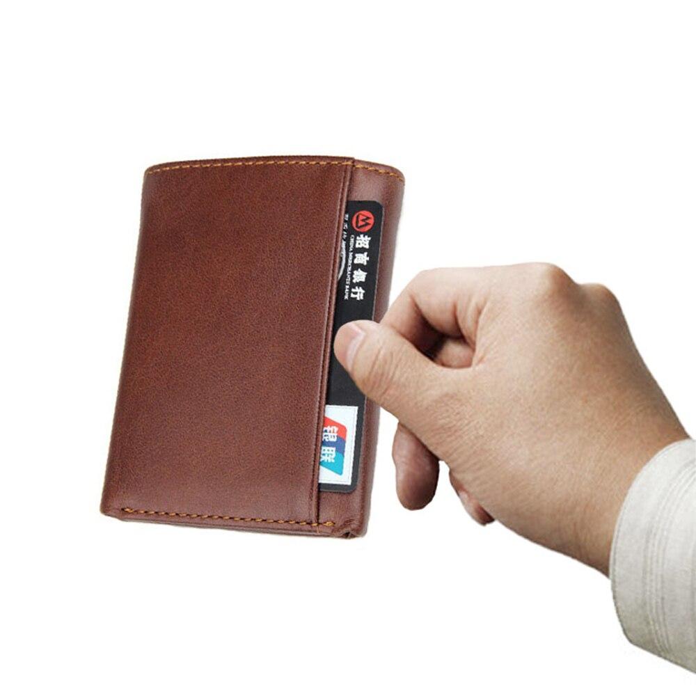 Artmi Mens Trifold Wallet RFID Läder Card Holder Kompakt Handväska - Plånböcker - Foto 5
