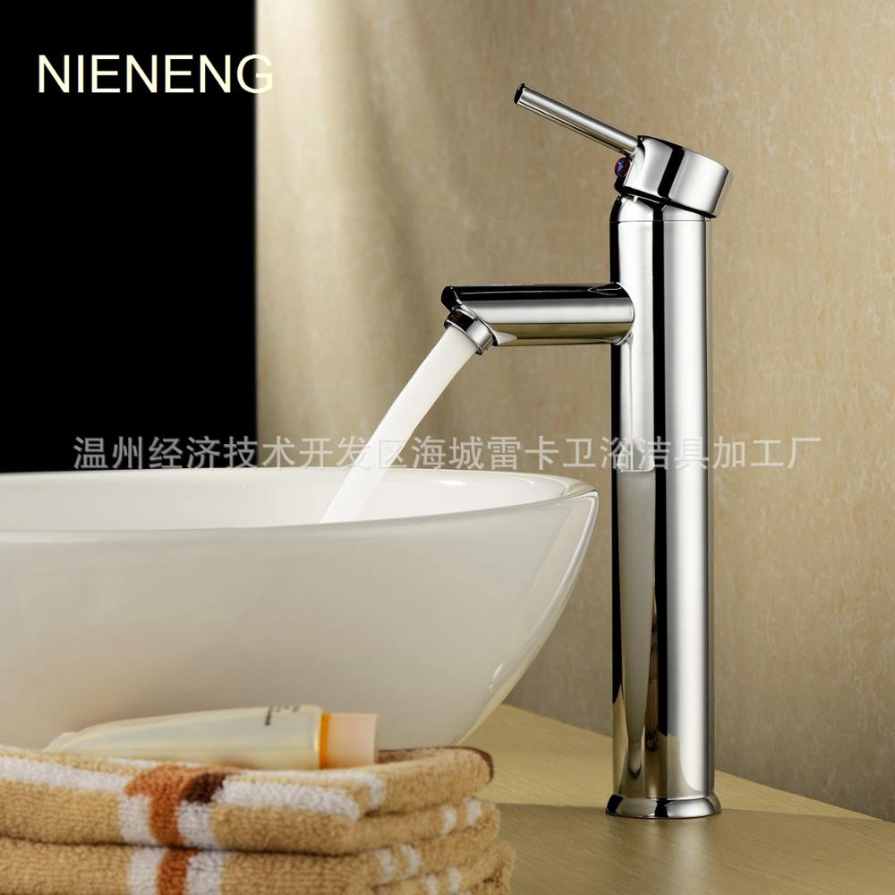 NIENENG faucet mixer bathroom faucet hotel accessories waterfall Bathtub faucet taps WC mixers banheiro sink tap ICD60178 nieneng big discount basin washroom mixer bathroom faucet tap mixers wc sanitary ware water toilet taps polished chrome icd60157