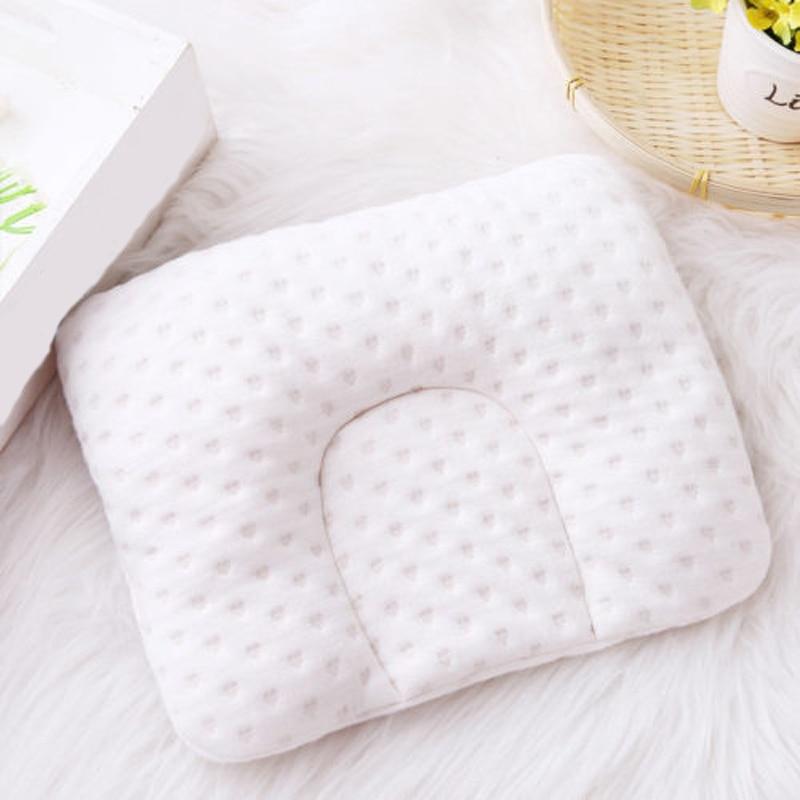 Cartoon Pattern Baby Pillow Newborn Infant Comfortable Cushion Prevent Flat Head
