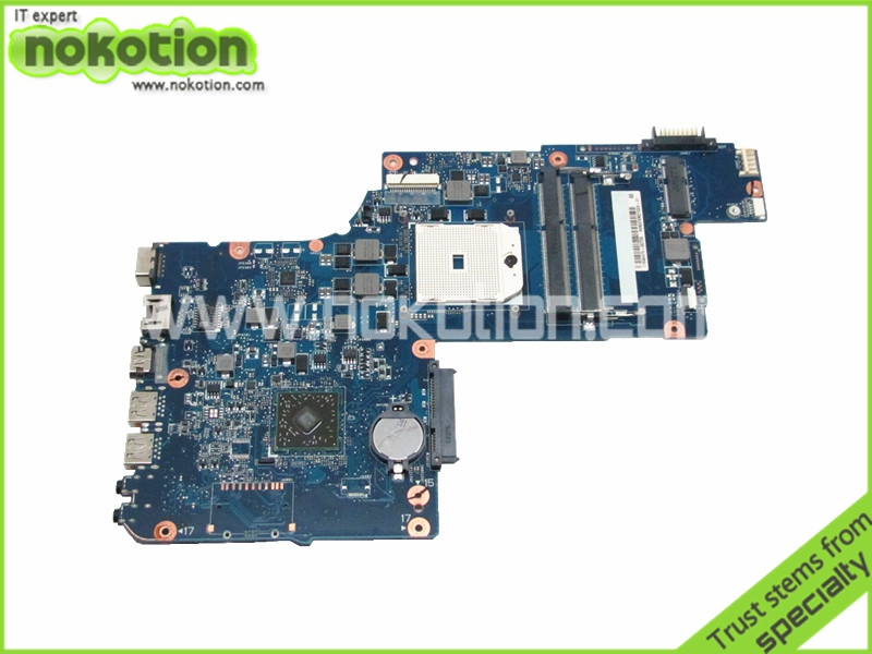 NOKOTION Laptop motherboard For Toshiba Satellite L875D Main board DDR3 H000043850 PLAC CSAC UMA Socket fs1 h000042190 main board for toshiba satellite c875d l875d laptop motherboard em1200 cpu ddr3