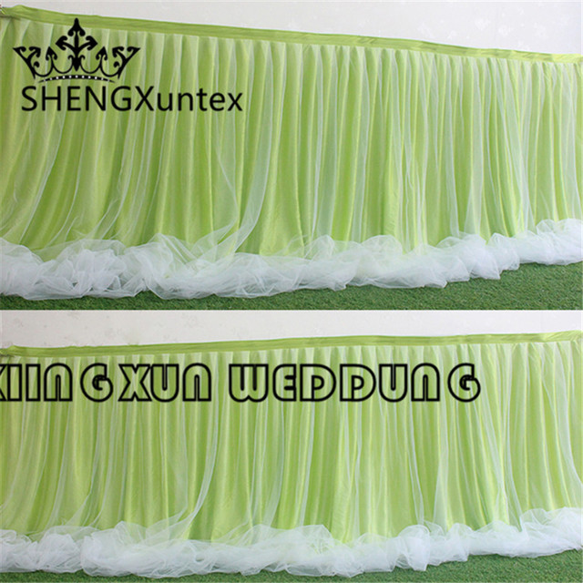 Wholesale Price 100 Ice Silk Table Skirt Table Cloth Skirting