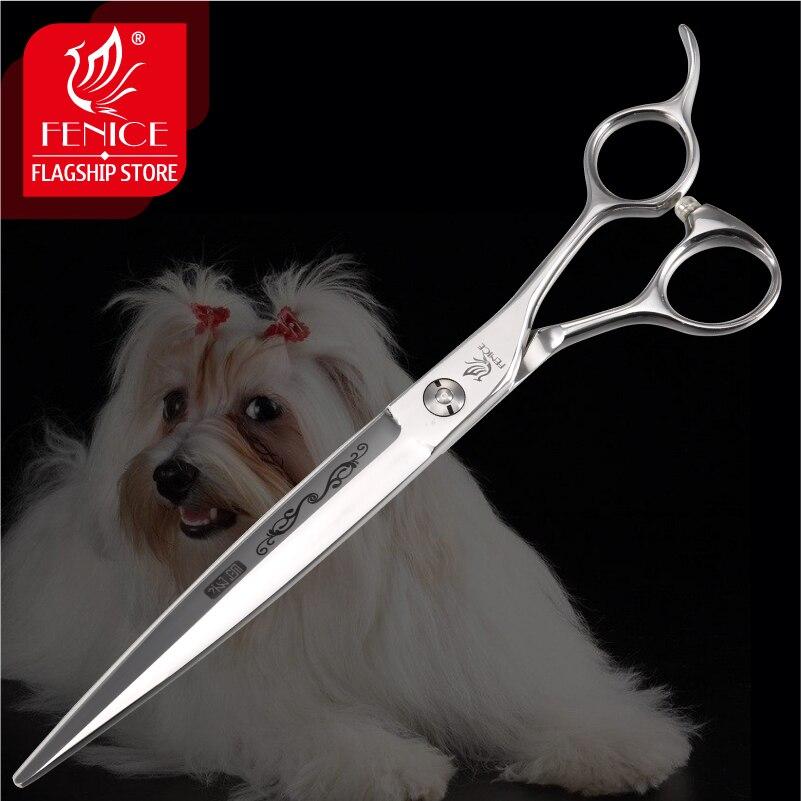 Tijeras profesionales de cuidado de mascotas Fenice 7,25 pulgadas para perros tijeras de corte con patrón de flores Japón 440c mascotas tijeras de recorte-in Tijeras de perro from Hogar y Mascotas    1