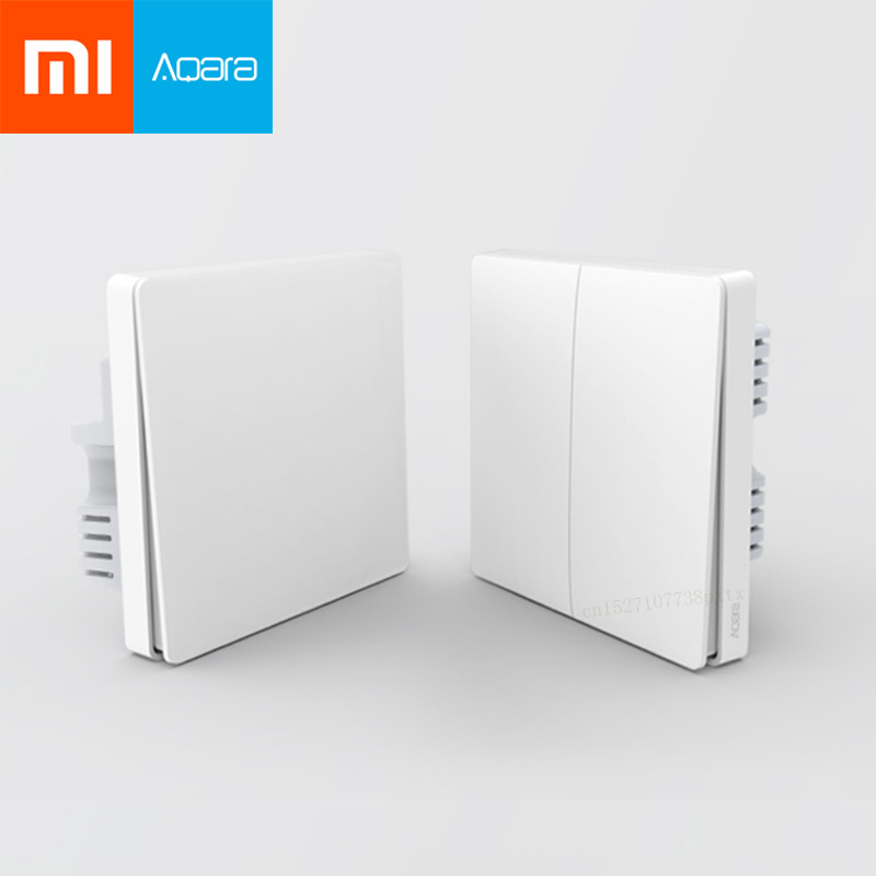 Original Xiaomi Aqara Mijia Smart Home Light Control Single Fire Wire ZigBee Wireless Key Wall Switch
